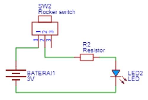 rangkaian listrik pada senter