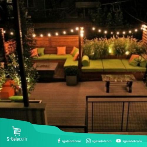 Dekorasi lampu LED untuk teras rumah