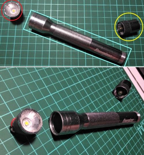 Bagian pada senter LED