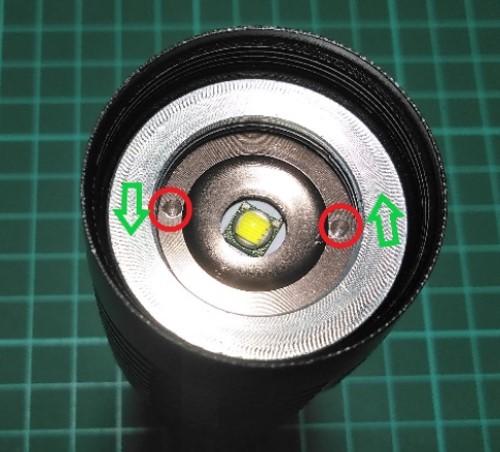 Lampu LED pada senter swat