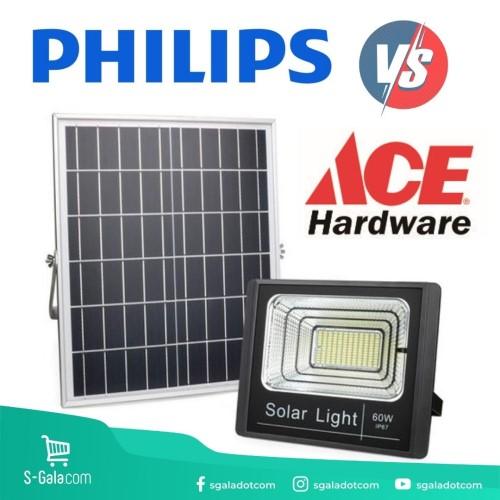 Lampu tenaga surya Philips dan Ace Hardware