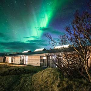 FORBES magazine names Hotel Húsafell in West Iceland one of the world's best hotels to experience the Northern Lights.