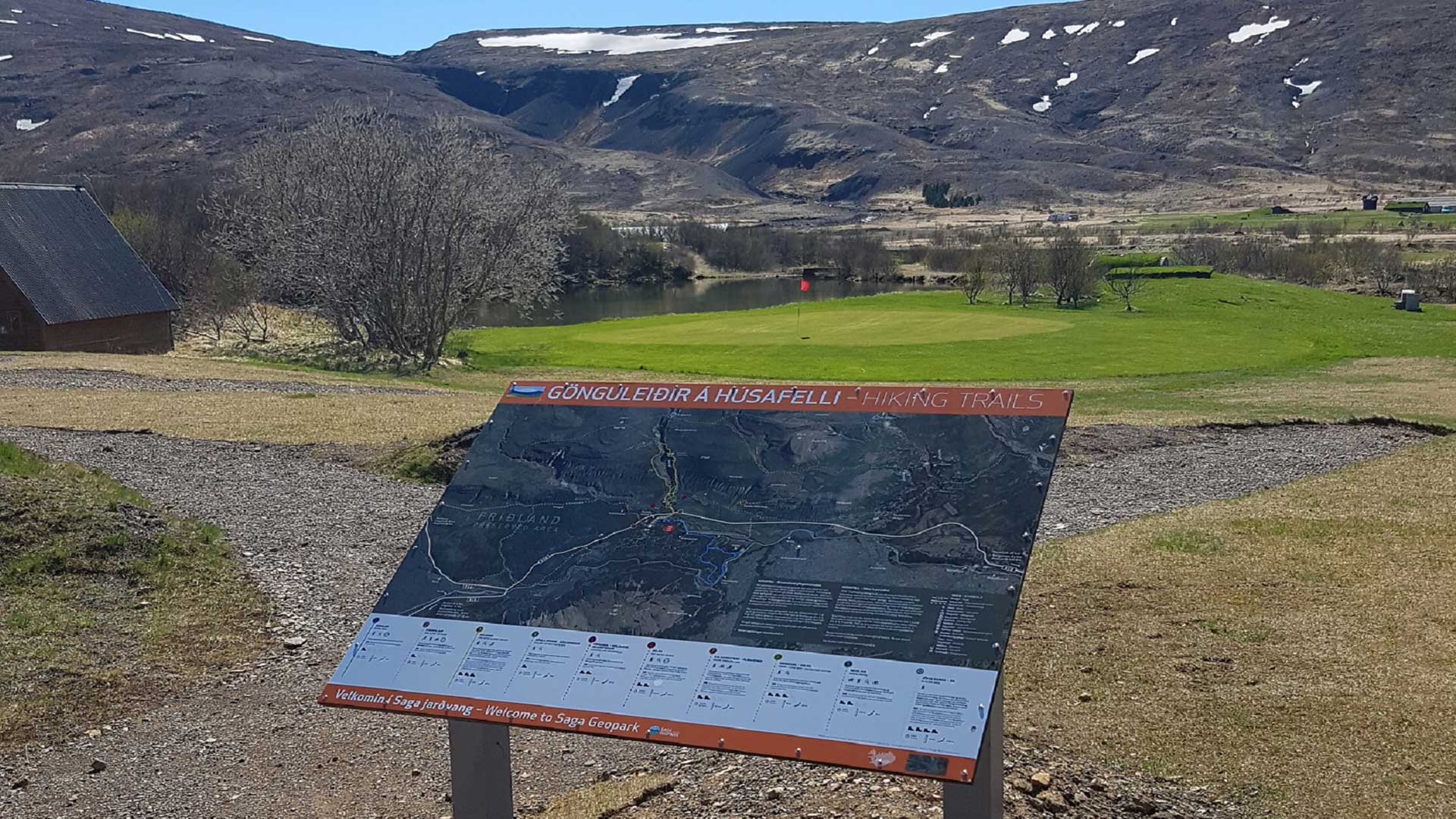 New Húsafell Hiking Trails and Map