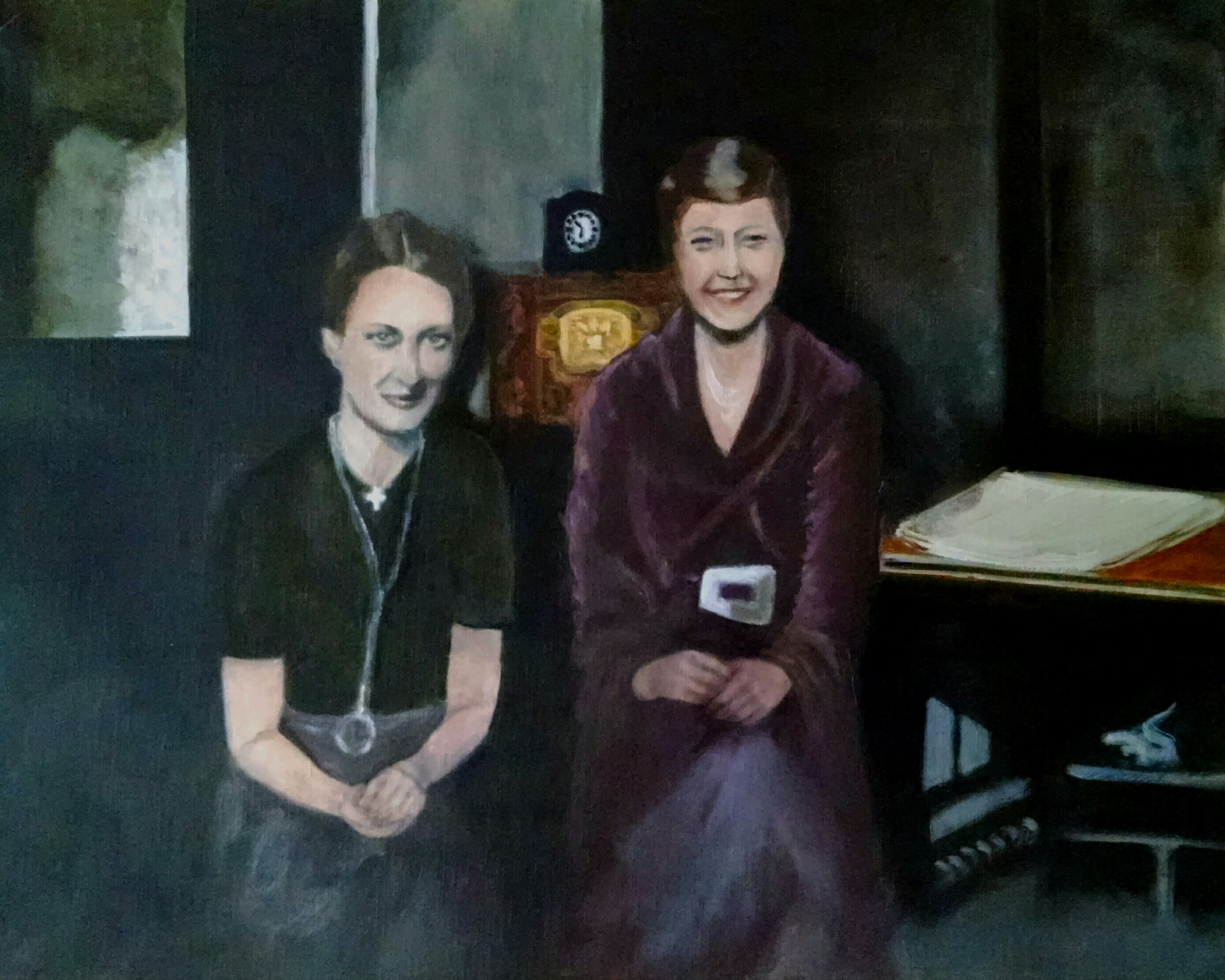 Ida Gross and Wanda Pitz, friends of my mother