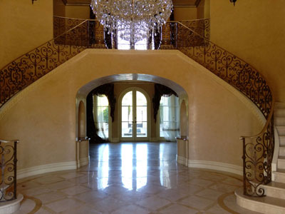 Two Story Hand Rails