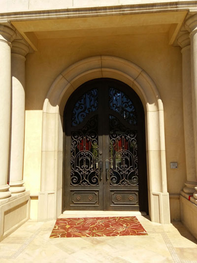 Black Double Iron Door