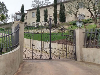 Custom Driveway Gate Design
