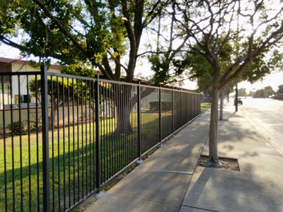 Street Metal Fence