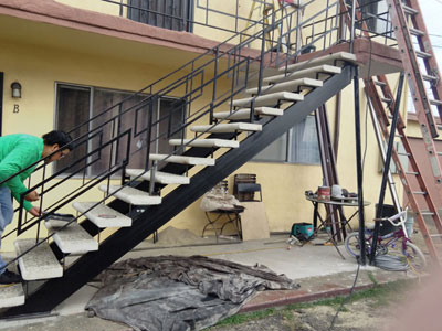 2 Story Stairs Hand Rail for Apartments