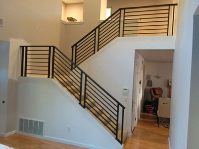 2 Story Indoor Stairs Rail