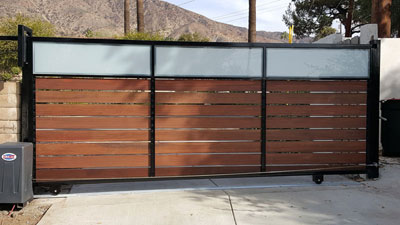Metal and Wood Sliding Door