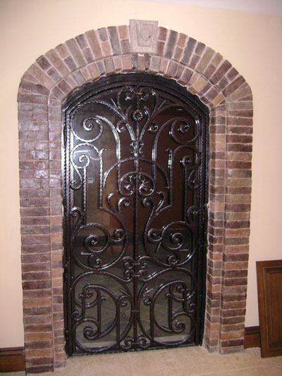 Interior Iron and Glass Door Design