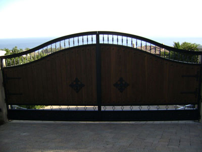 Big Wood and Iron Swinging Gate
