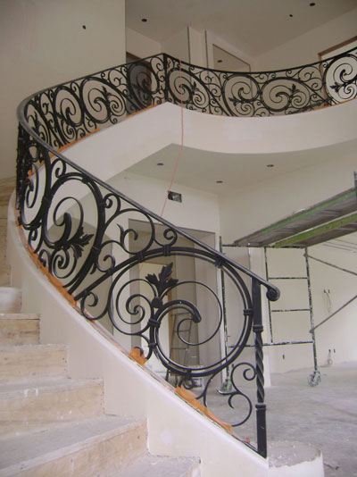 2 Story Iron Hand Rail Designs
