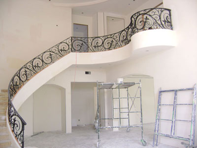 Stair Case and 2nd Floor Custom Handrail Design