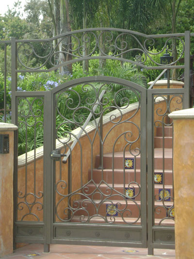 Small Iron Gate Door for Stairways