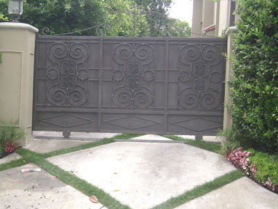 Solid Iron Sliding Gate