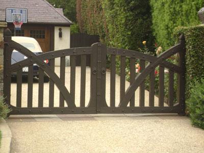 Custom Small Driveway Gate Design