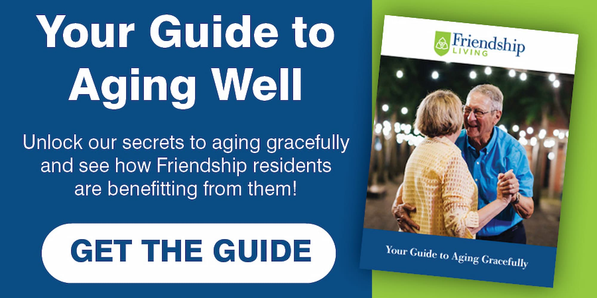 Your Guide to Aging Well, Document containing aging secrets, couple dancing