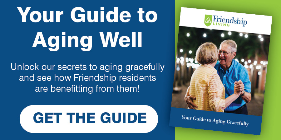Your Guide to Aging Well, Get the Guide button, Couple dancing, Aging Gracefully
