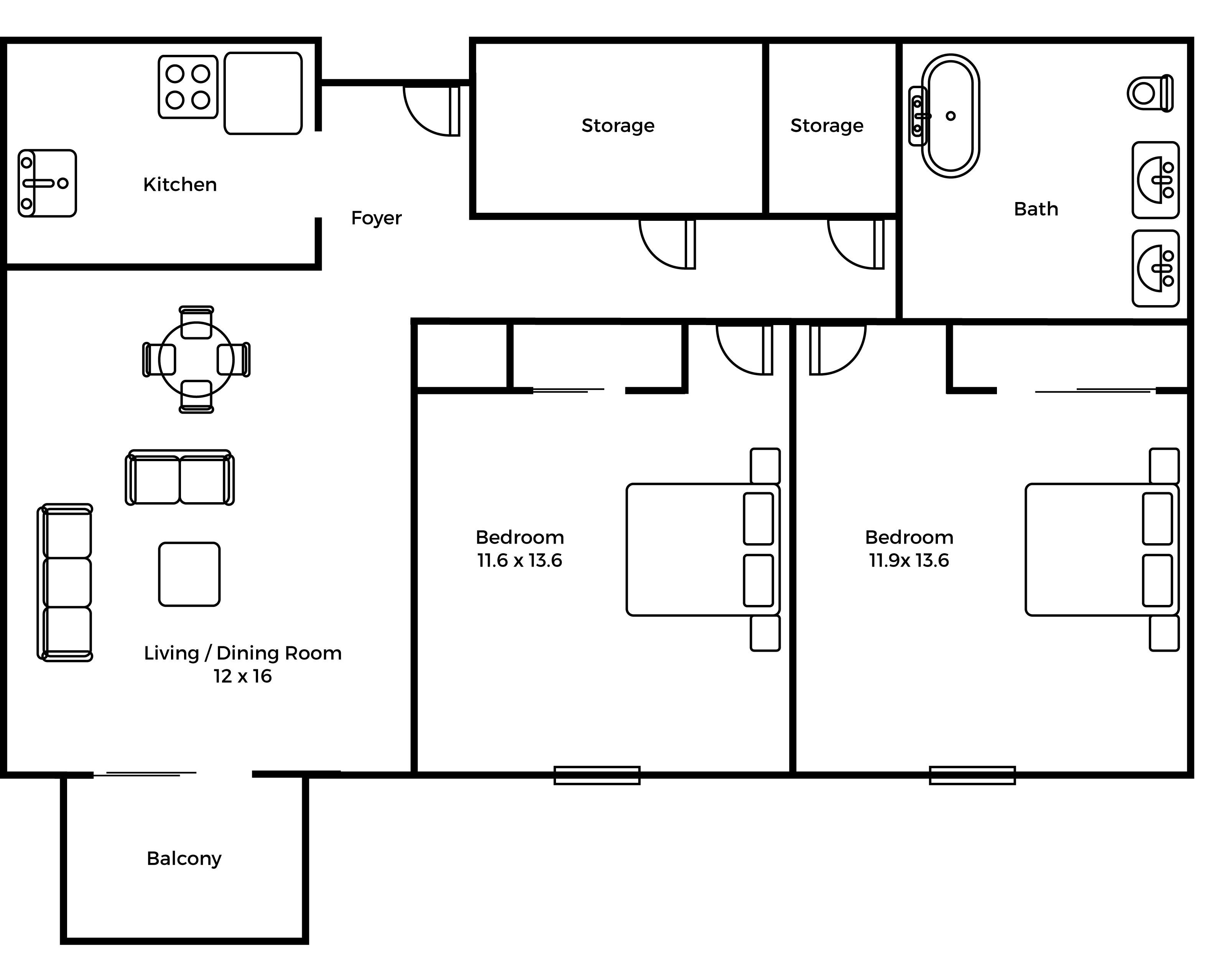 Regency balcony floorplan