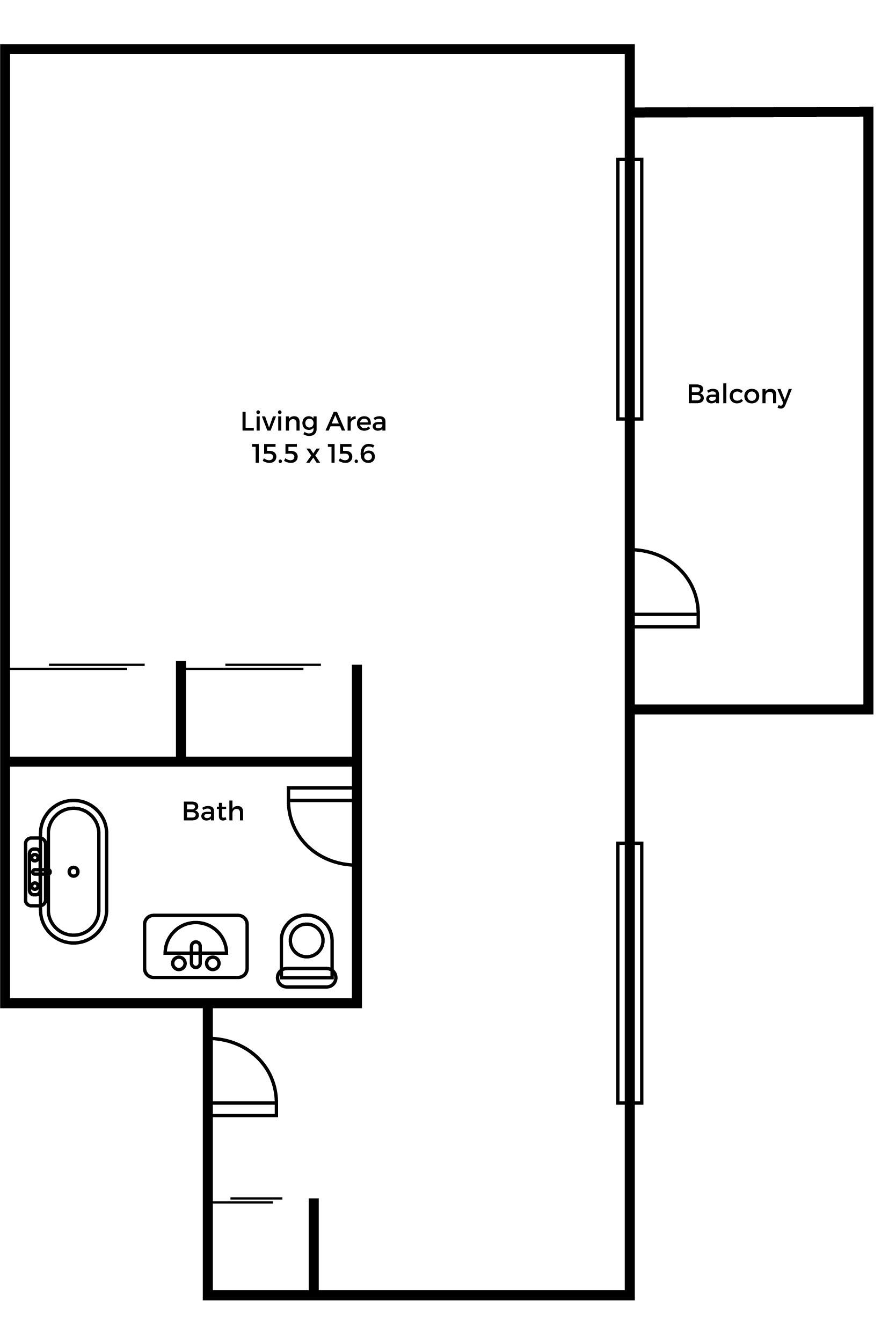 Eastwood balcony suite floorplan