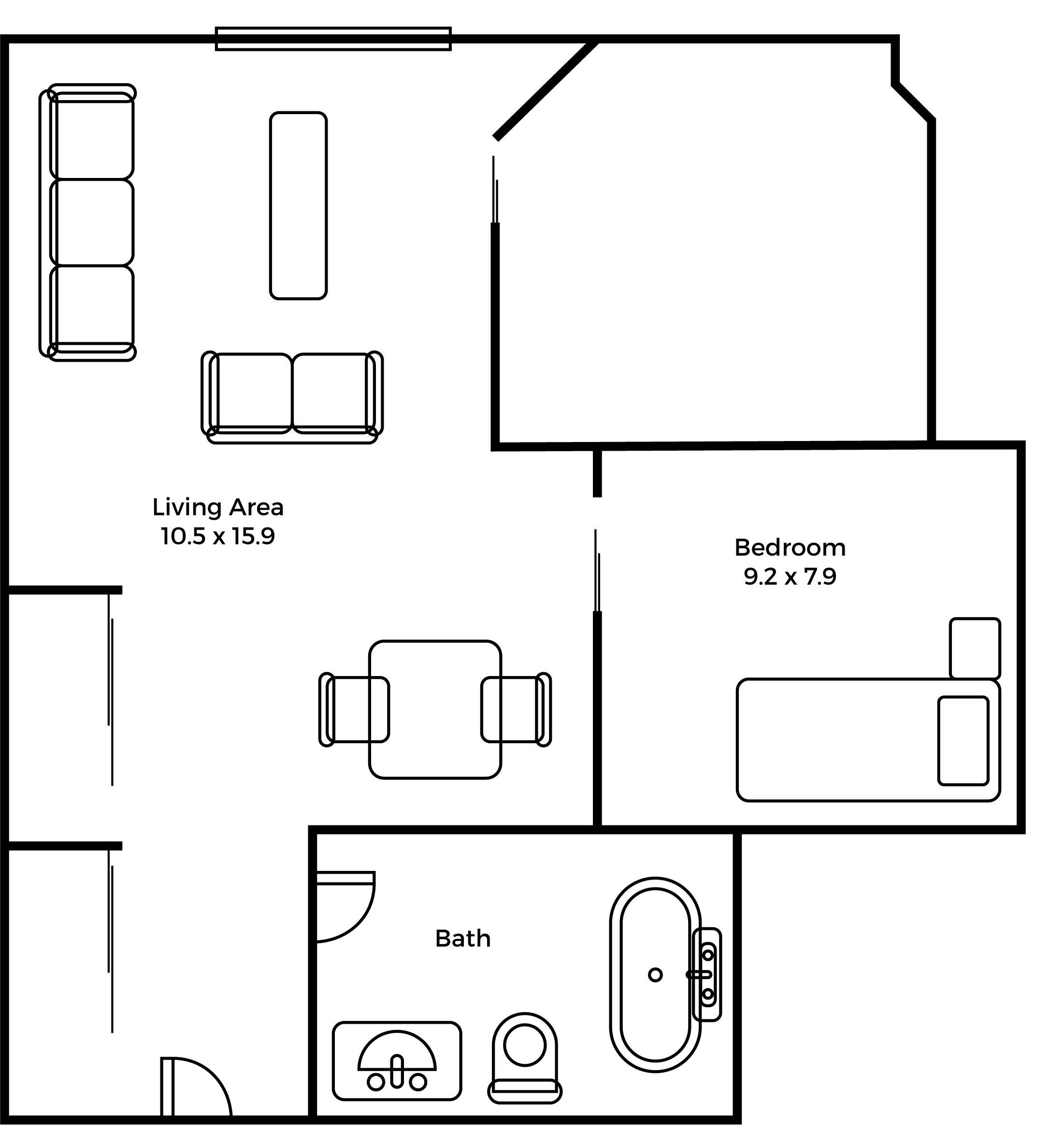 Eastwood Semi Private floorplan