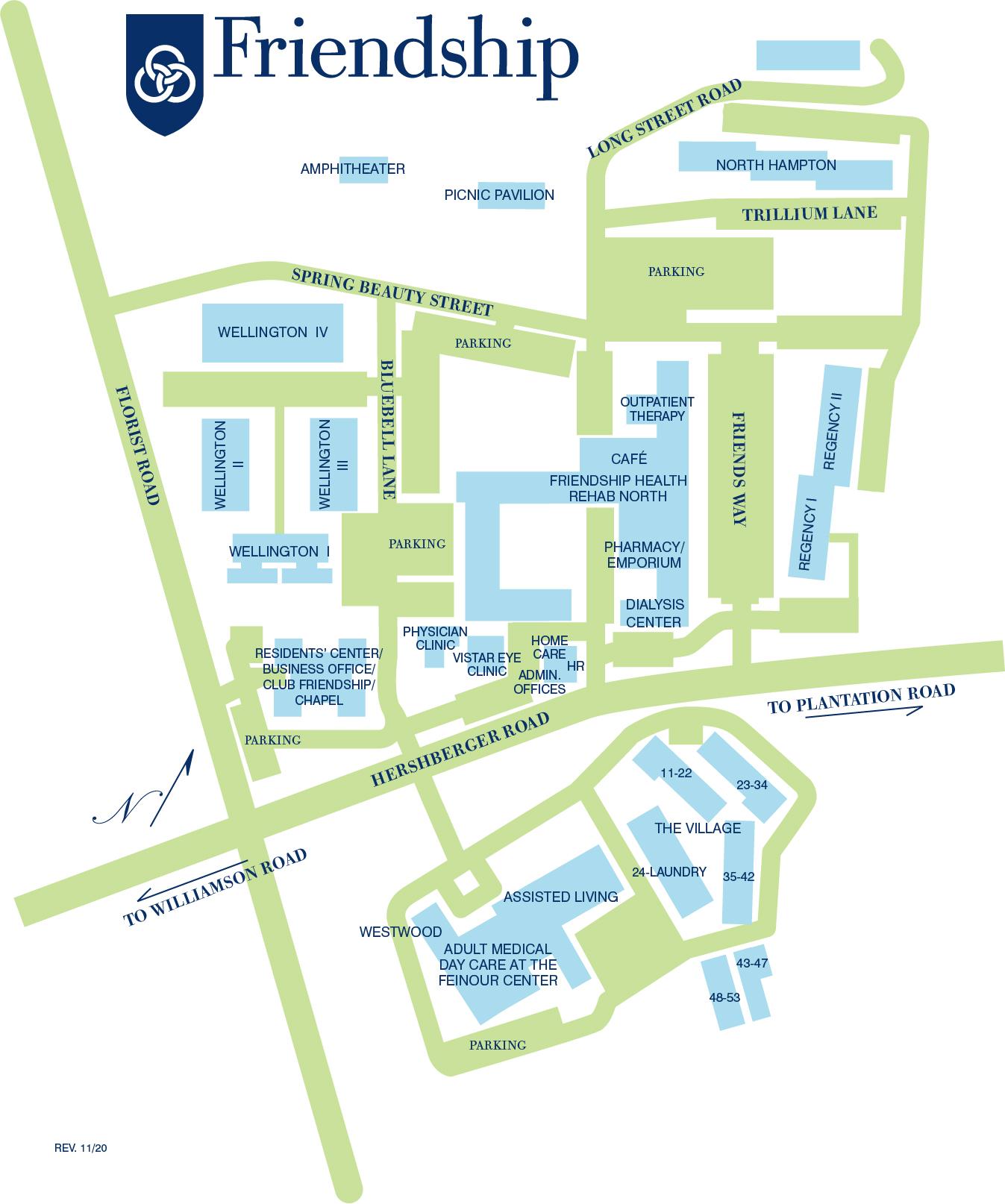 Campus map 2020