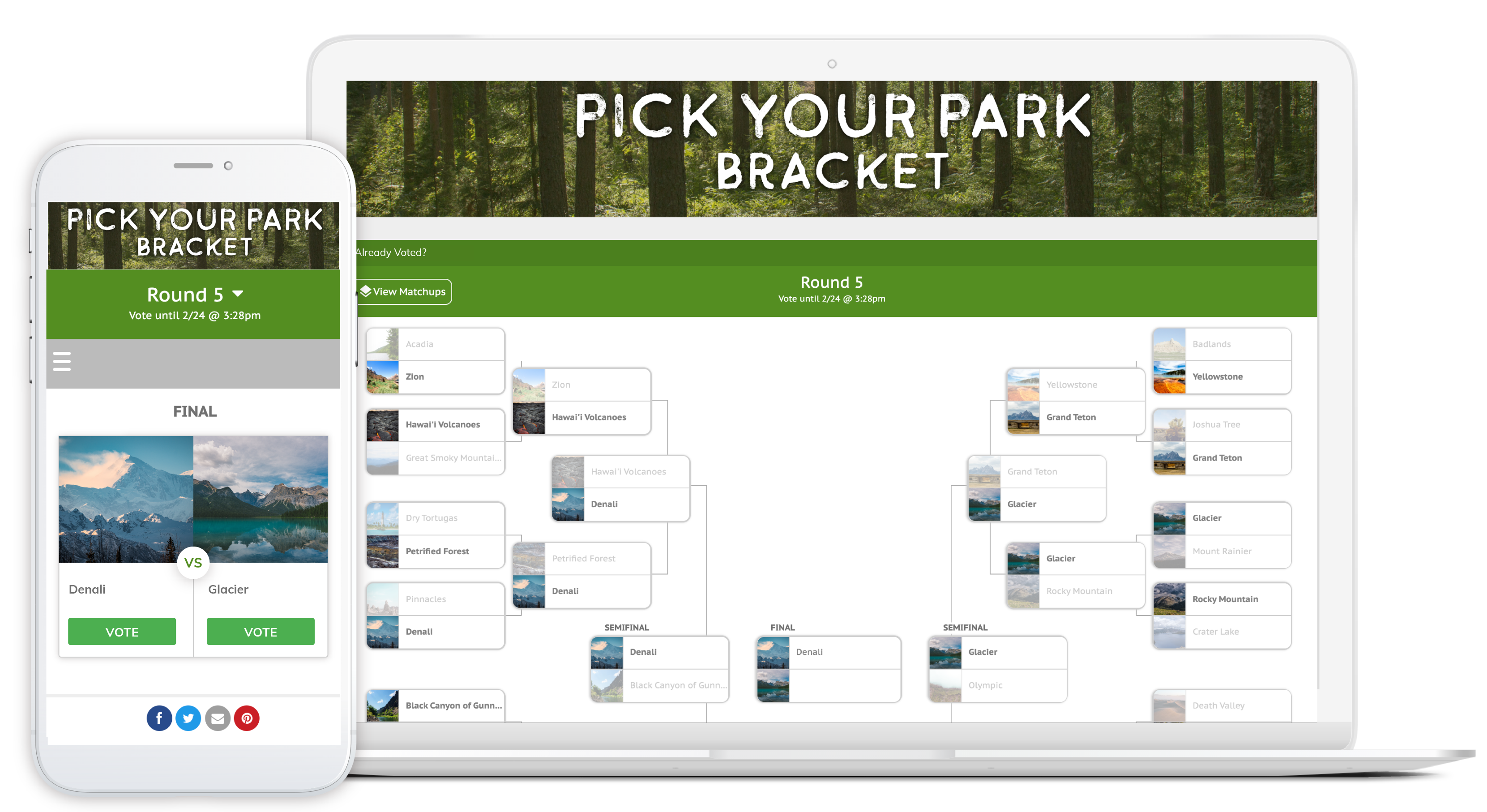 Pick Your Park Bracket