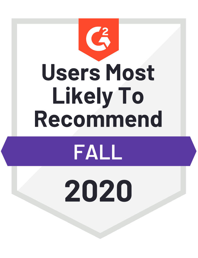 Users Most Likely to Recommend in Lead Capture category for Fall 2020