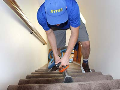Carpet cleaning by HYPER in St. Louis