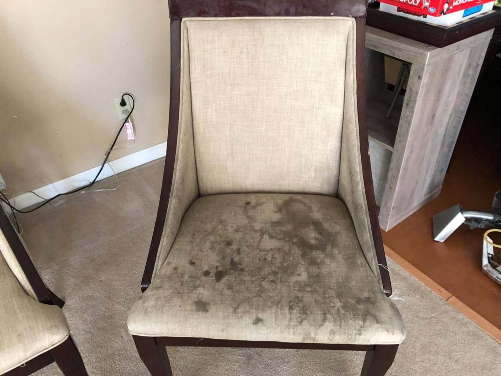 Furniture before being cleaned