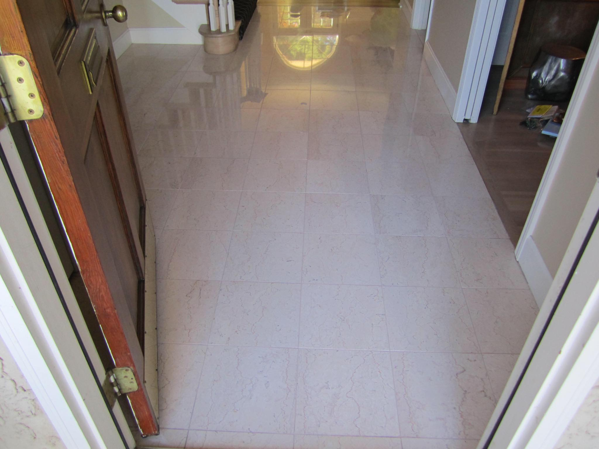 Tile and grout after being cleaned by HYPER