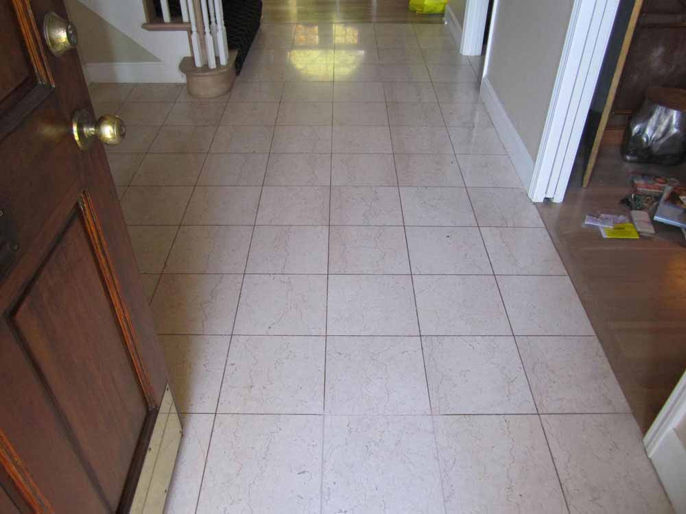 Tile and grout before clean