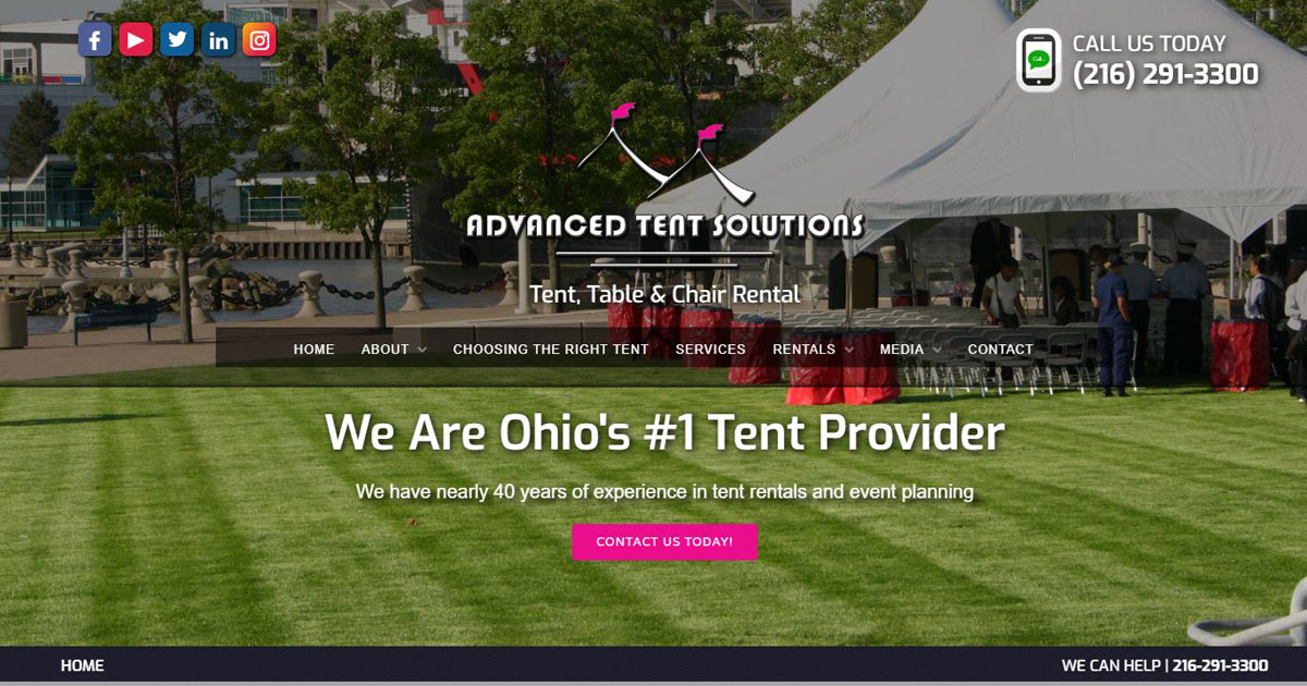 Cleveland Website Solutions: Advanced Tent Solutions