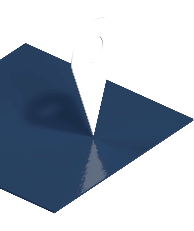 abstrakter Map-Pin