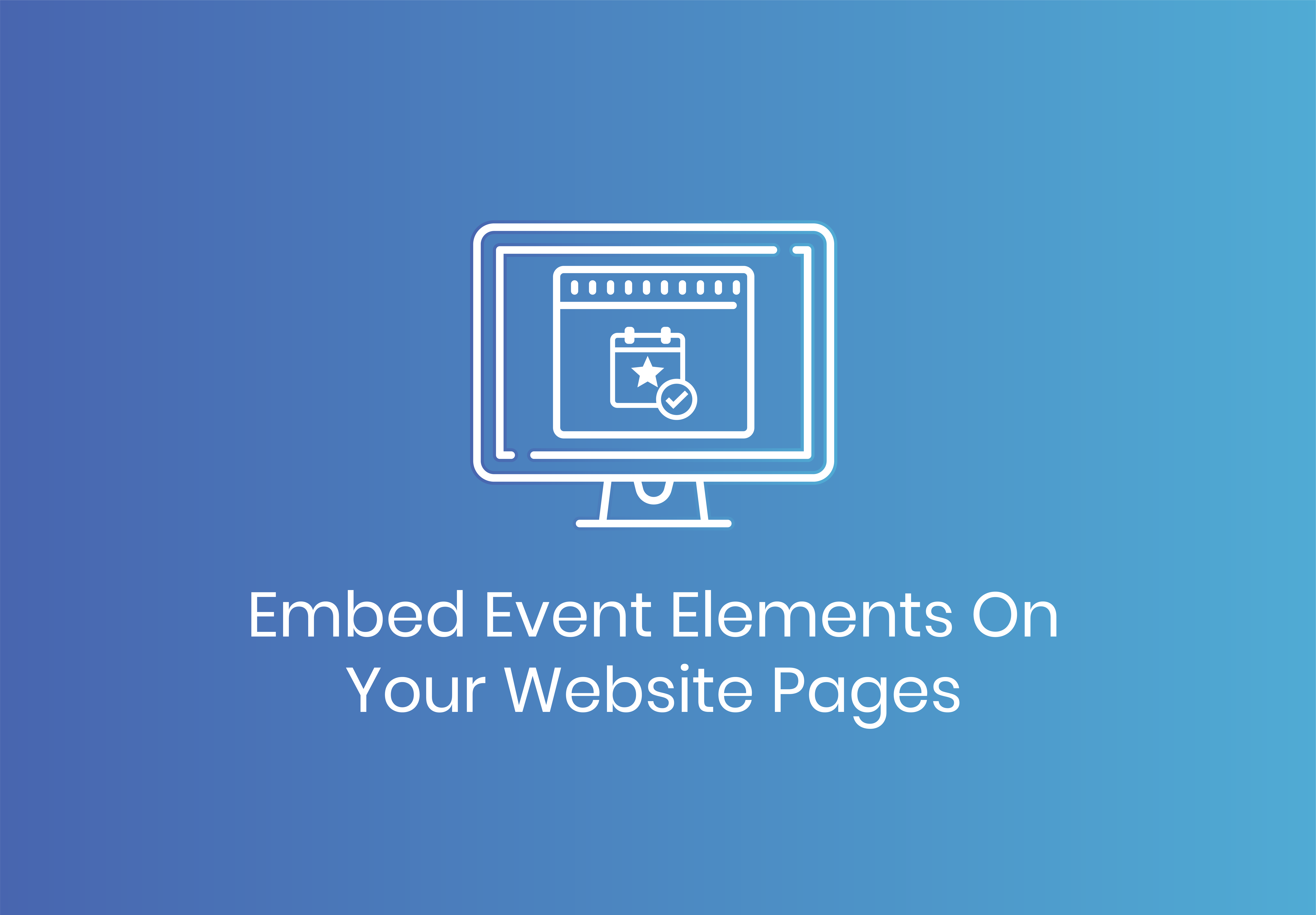 Embed your event landing pages, calendars, and forms on your website with Blackthorn Events