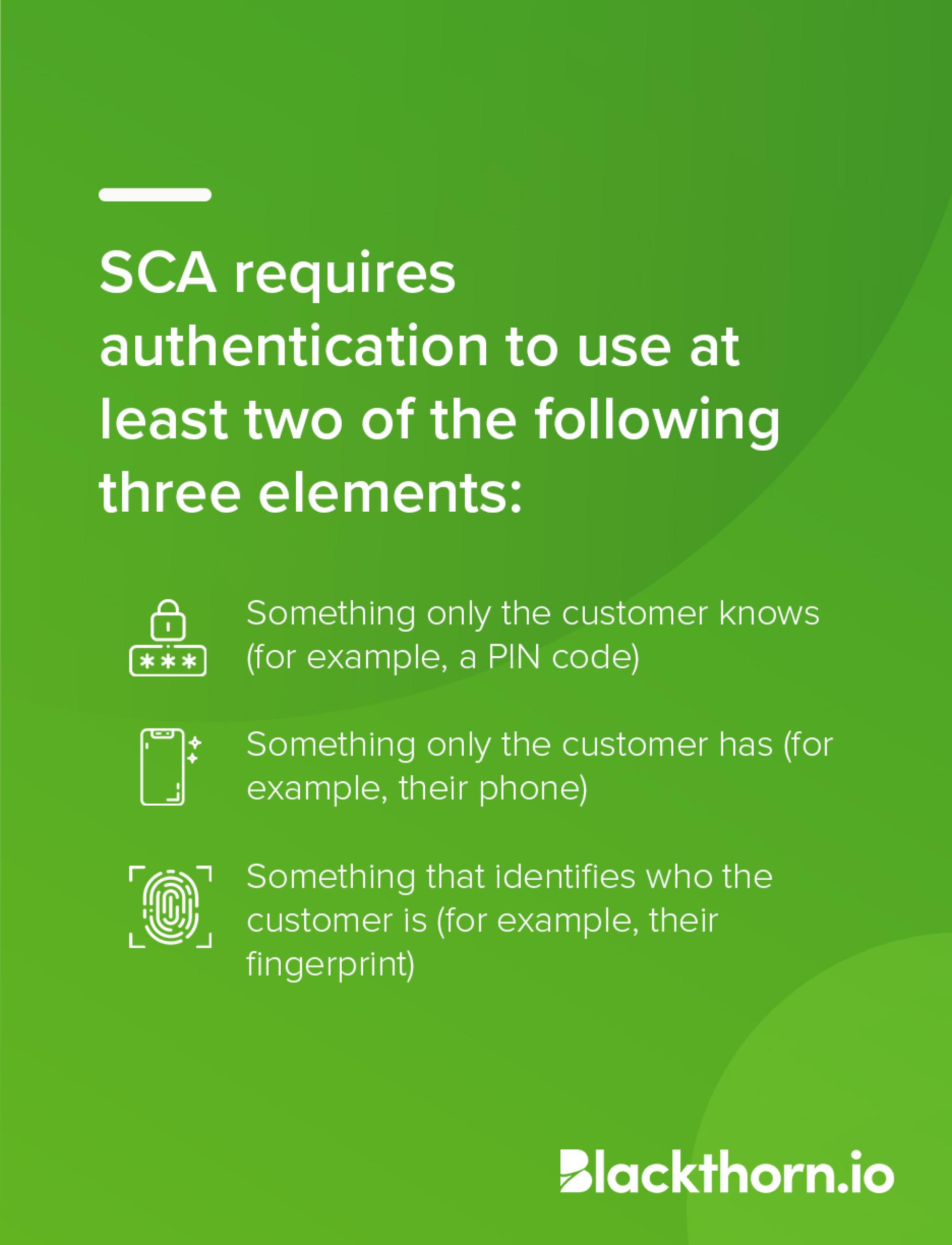SCA Multi-Factor Authentication