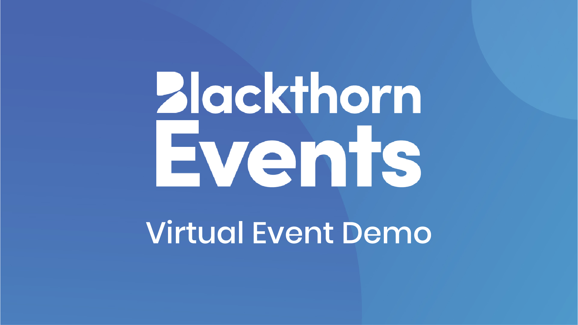 Using Blackthorn Events for Virtual Events