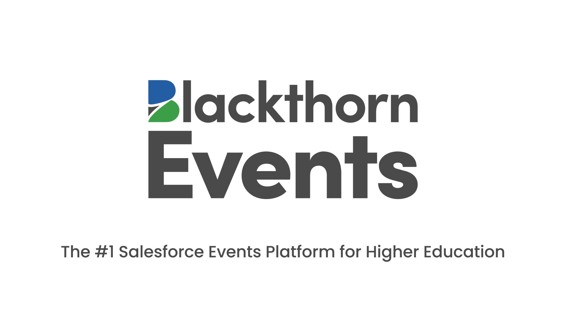 The #1 Salesforce Events Platform for Higher Education
