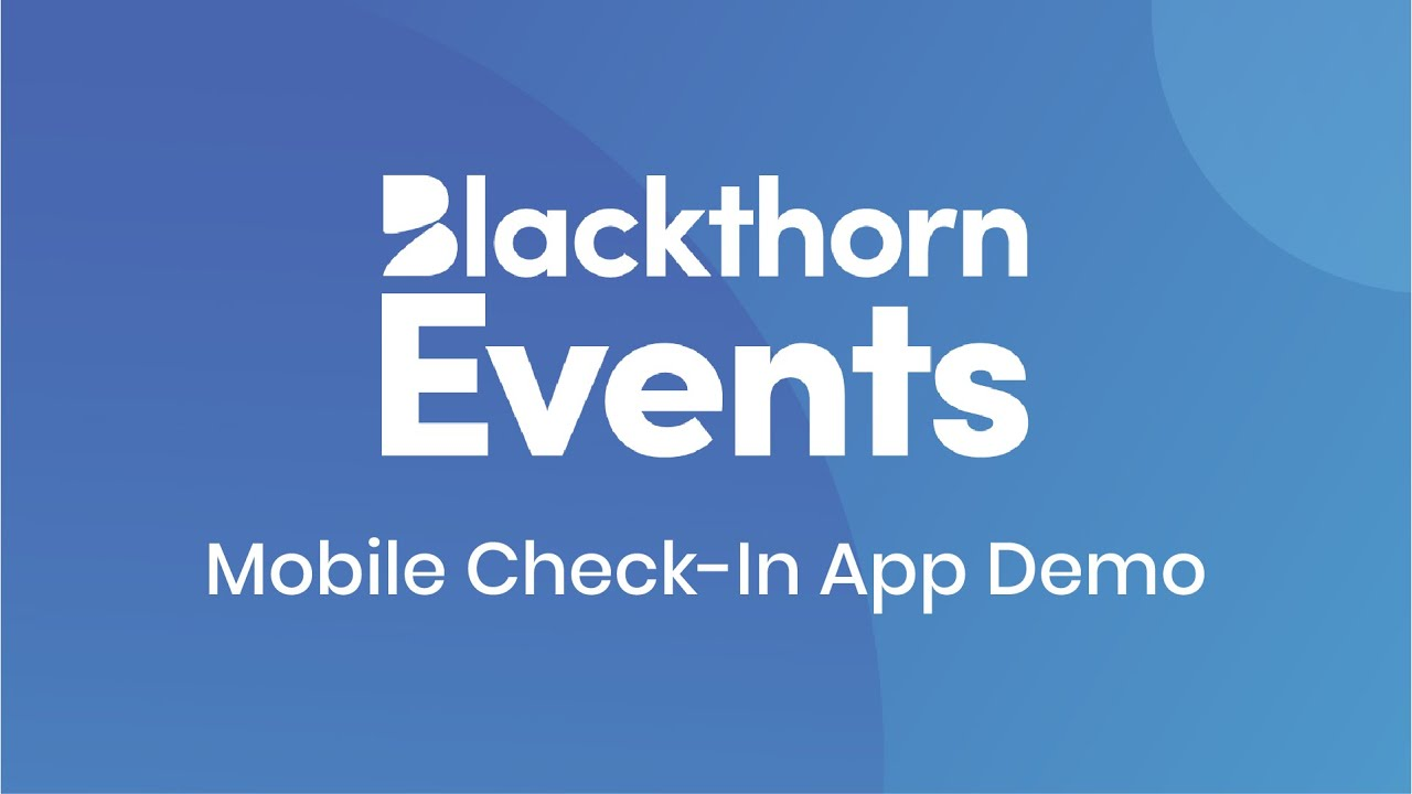 Blackthorn Events Mobile Check-In App