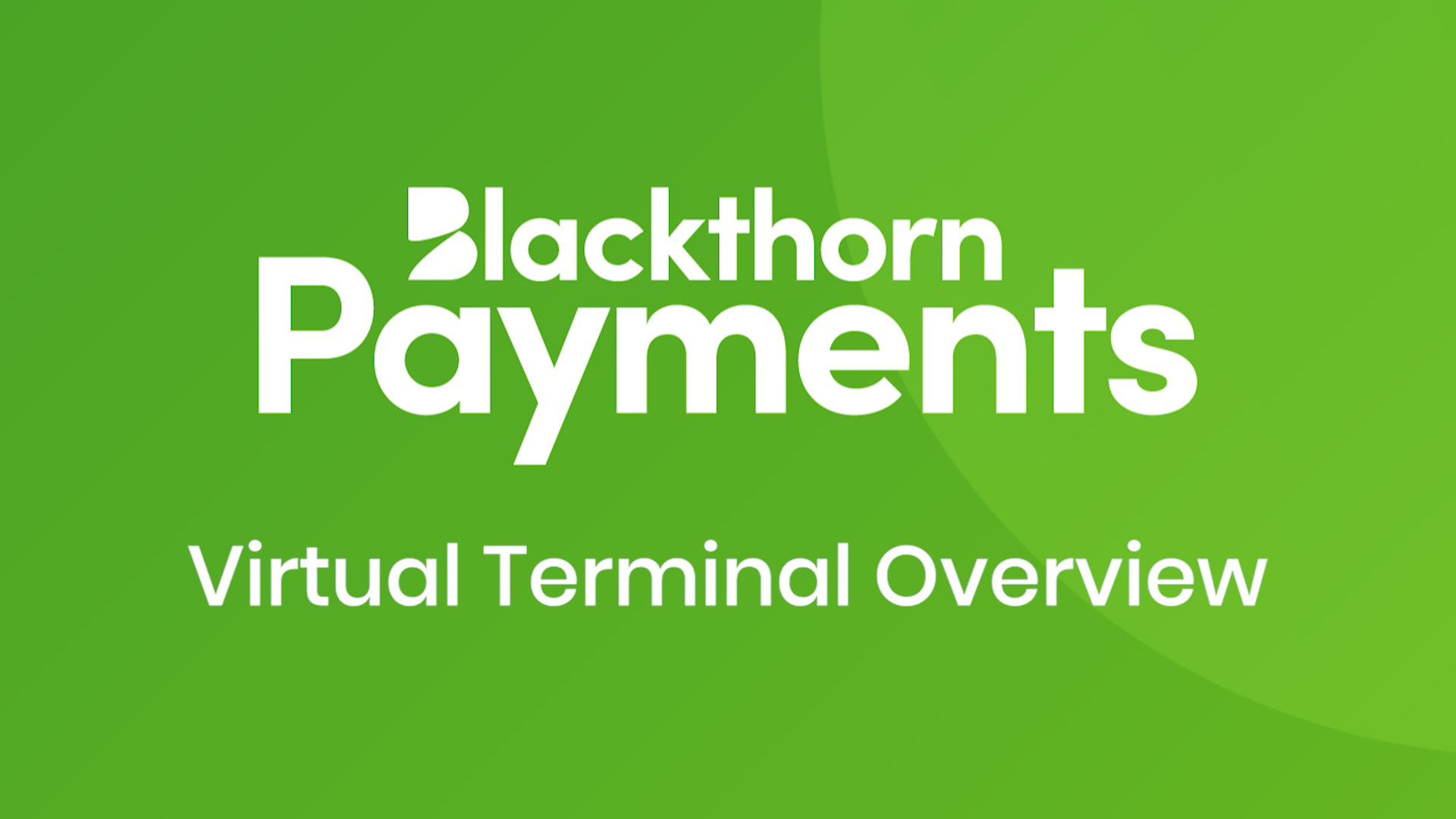 Process payments with the Virtual Terminal