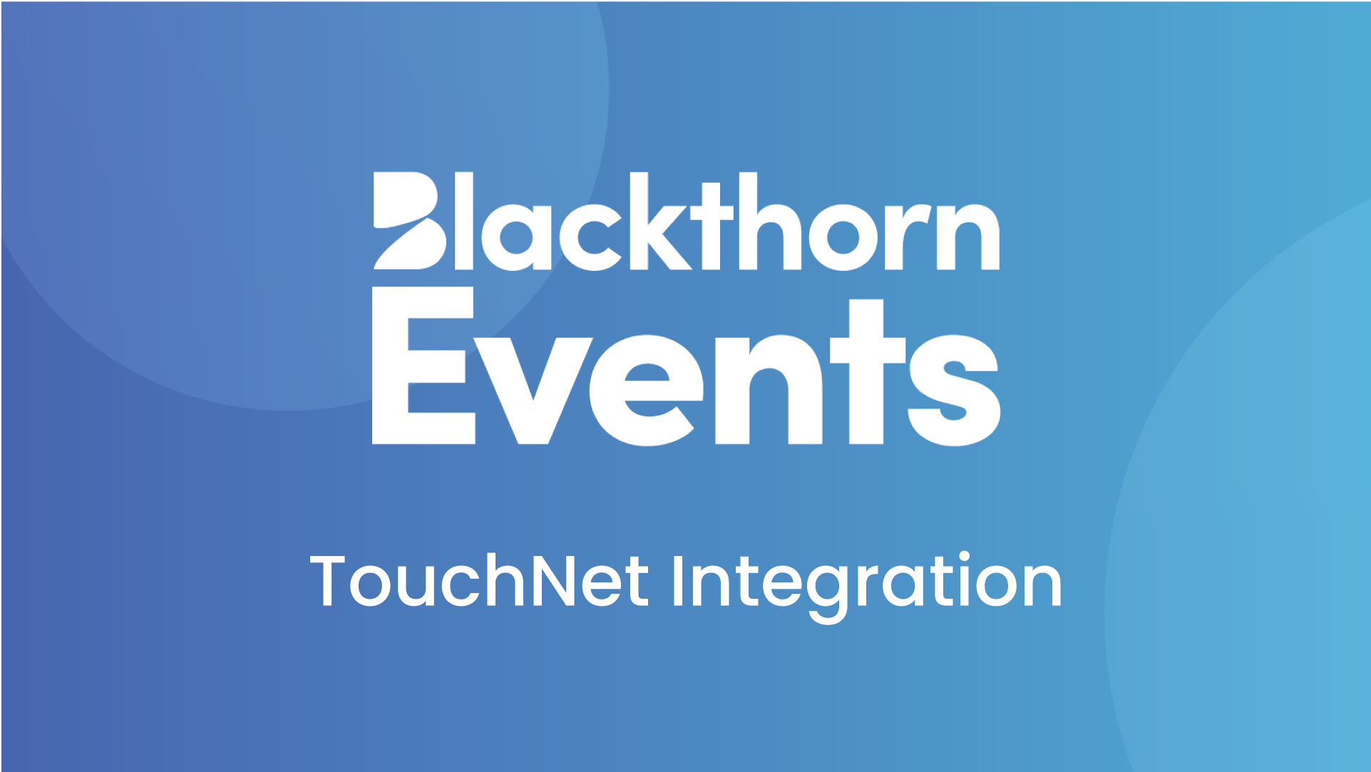 Use TouchNet for paid events