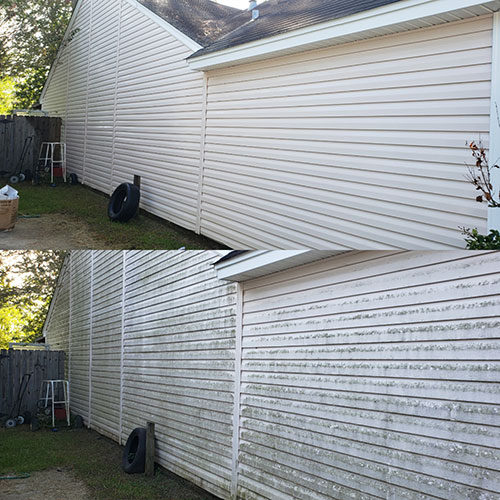 pressure cleaning before and after