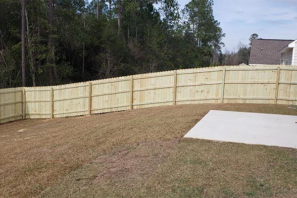 fence installation project