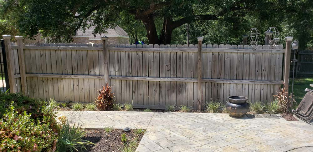 Fence restoration before
