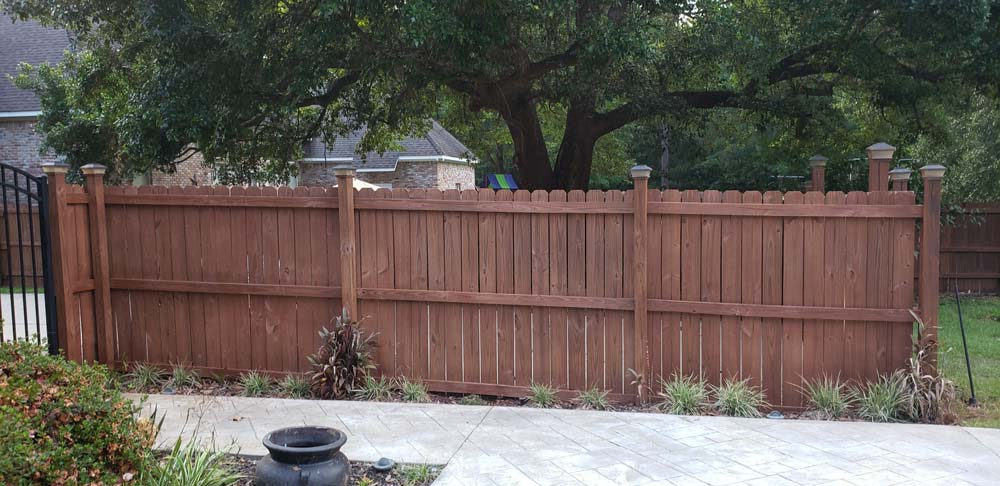 Fence restoration project complete