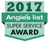 Onsite Drapery won the 2017 Angie's List Super Service Award