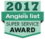 Onsite Drapery won the 2017 Angie's List Super Service Award