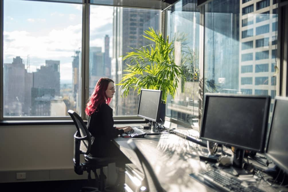 Woman working from Serviced Office Melbourne